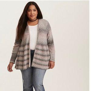 Torrid Ombré Open Front Cardigan Sweater